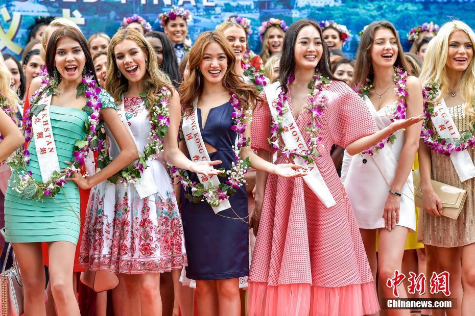 第67届世界小姐总决赛 佳丽三亚巡游展美丽风采