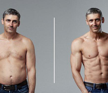 45岁老爸12周练出6块腹肌