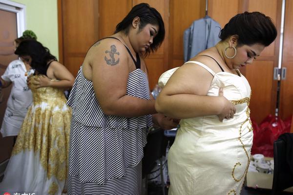 泰国举办胖小姐选美大赛