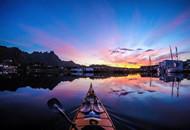历时3年拍摄独木舟上挪威