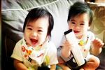林志颖双胞胎儿子满9个月 笑容可爱很调皮