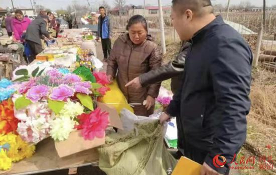 民政部门和执法部门开展殡葬联合执法。 河北省民政厅供图