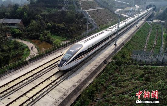 资料图:高铁列车。中新社记者刘忠俊摄