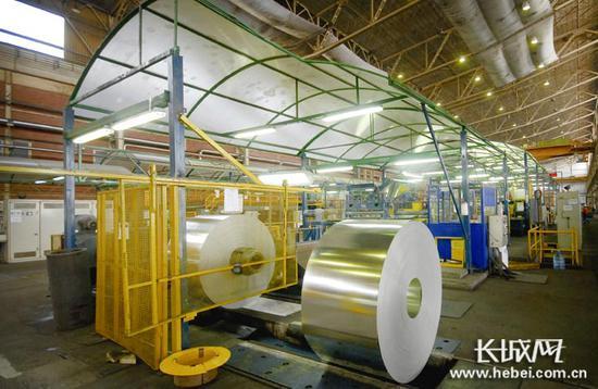 河钢塞尔维亚有限公司镀锌板产品。河钢集团供图