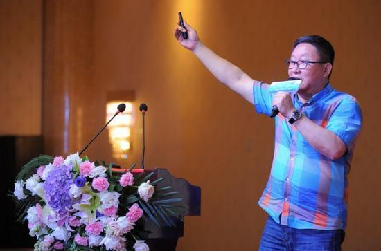 中国主题公园研究院院长林焕杰发表主题演讲