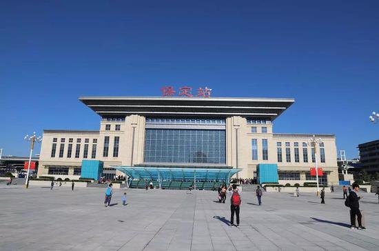 保定火车站东广场投入使用 东站房也同时开通图片