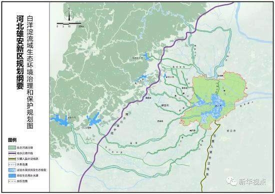 未来雄安,将镶嵌在蓝绿交织的生态空间之中,蓝绿空间占比稳定在70%。