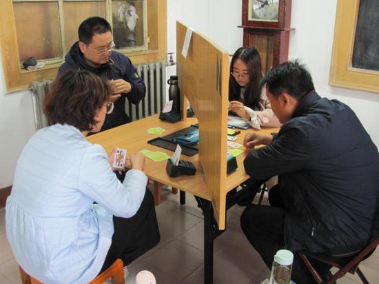 衡水学院教工桥牌队征战济南