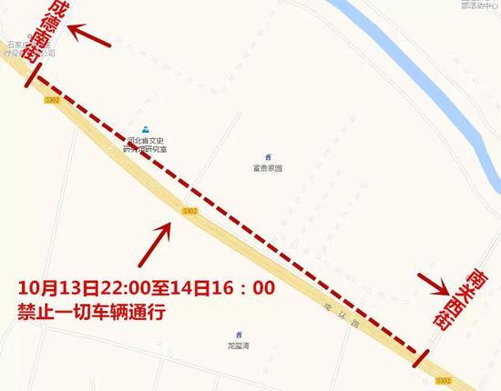 10月14日7:00-16:00,体育北大街子龙大桥南口禁止一切车辆向北行驶;