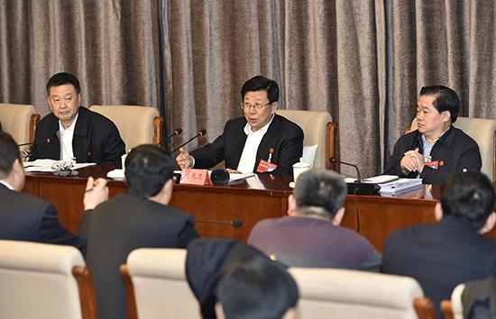赵克志参加石家庄代表团和唐山代表团审查省党代会报告