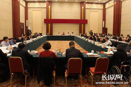 政协委员分组讨论政协工作报告。 长城网 张欣 摄