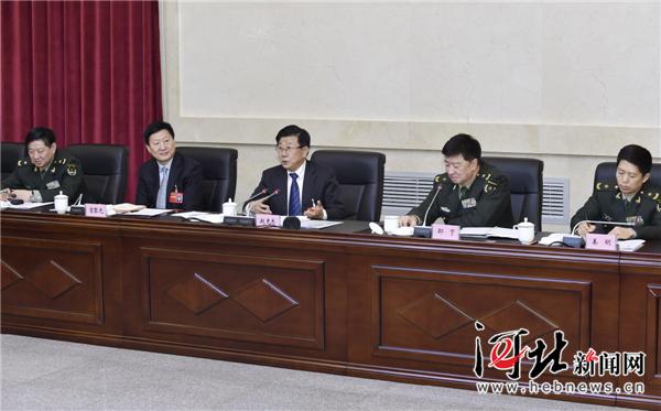 1月11日,省委书记赵克志参加省十二届人大五次会议解放军代表团审议。河北日报记者 赵威 郭昭摄