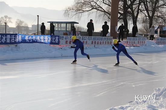 河北青少年速滑比赛现场。图片由河北省体育局提供