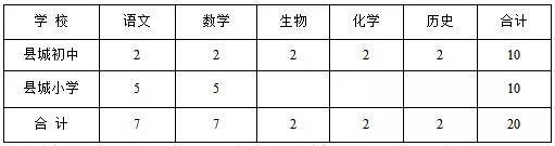2.农村中小学教师55人(其中:农村中学10人,偏远校点25人,其它农村小学20人)