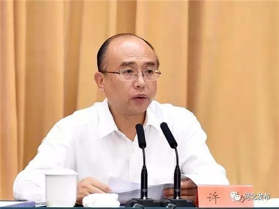 8月23日,国家海洋督察组(第二组)督察河北省工作动员会在石家庄召开。图为省长许勤作动员讲话。记者孟宇光摄