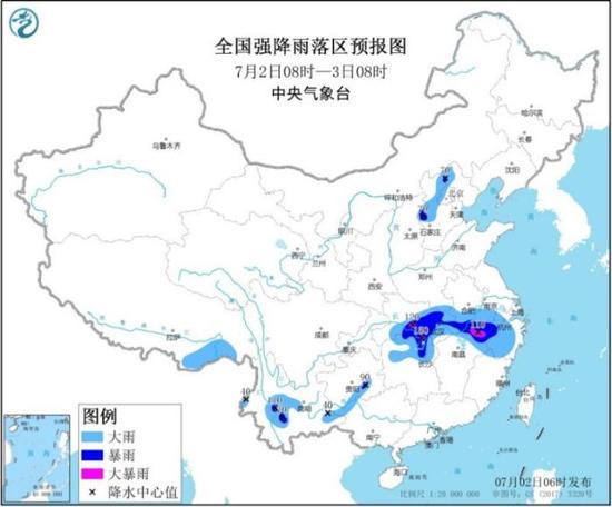 西南、江南北部等地有强降雨 华北东北多对流性天气