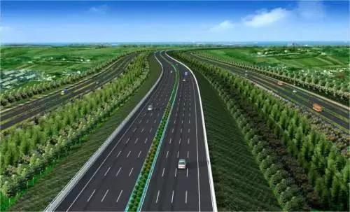 双向八车道标准建设