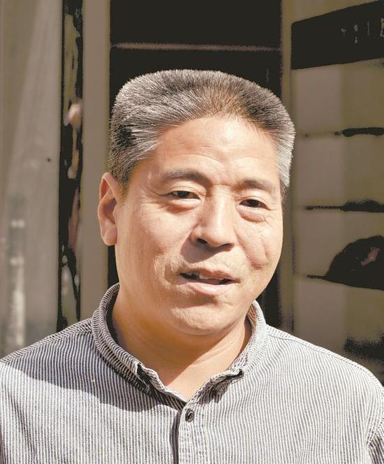 勇擒持刀歹徒的退伍老兵吕保民。(资料片) 记者耿辉摄