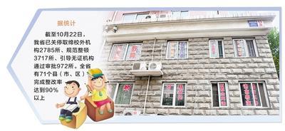 制图 刘欣瑜 石家庄市某小区里的课外培训班在窗户上打满广告。(资料片)记者 赵永辉摄