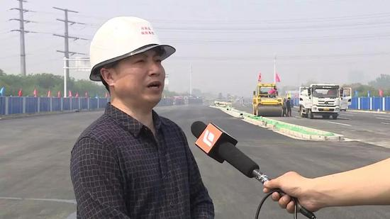 △南二环东延工程施工单位相关负责人接受采访