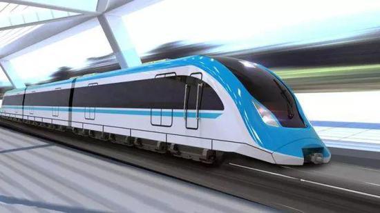 图为磁浮列车模型图