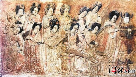 王处直墓彩绘浮雕散乐图 (资料片)
