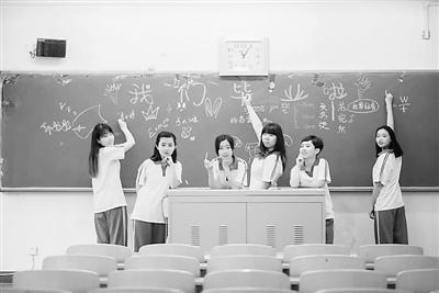 419宿舍的6个女孩儿。