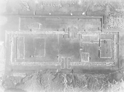 西门、西瓮城与瓮城内建筑基址。资料图片