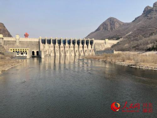 河北省桃林口水库开闸 青龙河生态补水6000万立方米