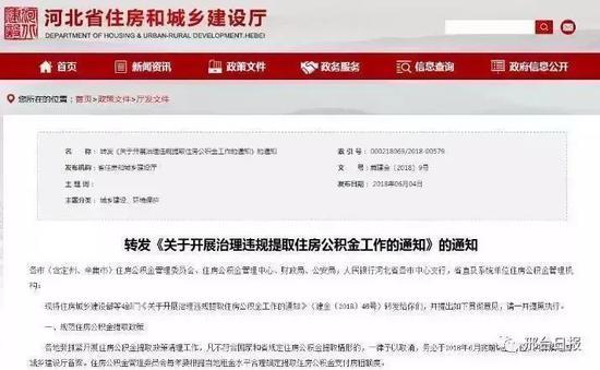 河北省4部门联合出重拳 公积金炒房没机会了