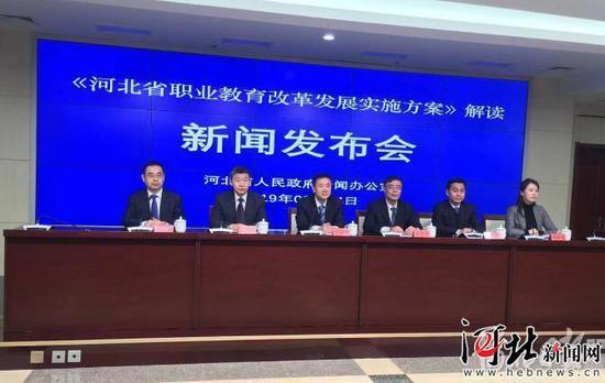 3月14日,河北省政府新闻办召开新闻发布会。图为发布会现场。