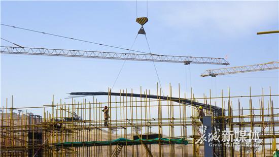 河北第二屆園博會主場館混凝土主體結構建設完