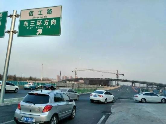 东南二环立交桥主线桥开通