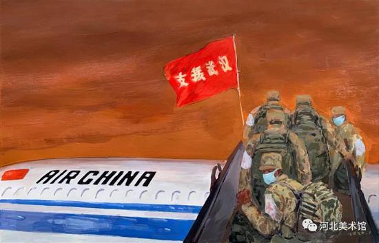 《逆行必胜》 王海丰 油画