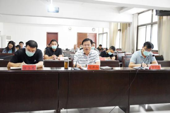 市委书记赵洪山专题调度全市防汛工作