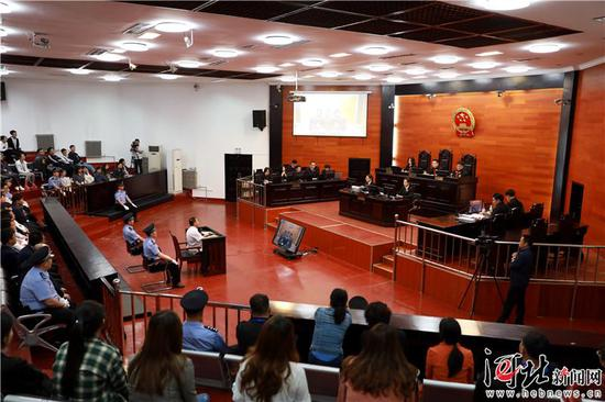 庭审现场。秦皇岛市中级人民法院供图