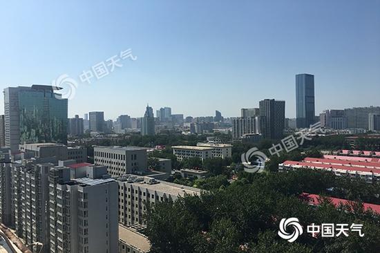 昨天石家莊市區熱力十足。圖/秦楠