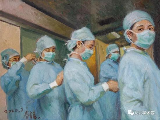《齐心协力》 刘春龙 油画