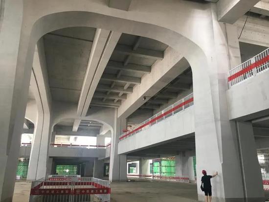 清水混凝土工程基本完工!雄安高铁站最新进展来啦