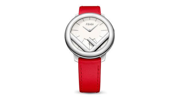 Run Away精钢款腕表搭配鲜红色小牛皮表带,果敢态度,瞬间尽显。