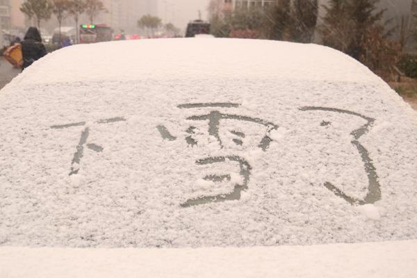 石家庄迎今冬首场降雪