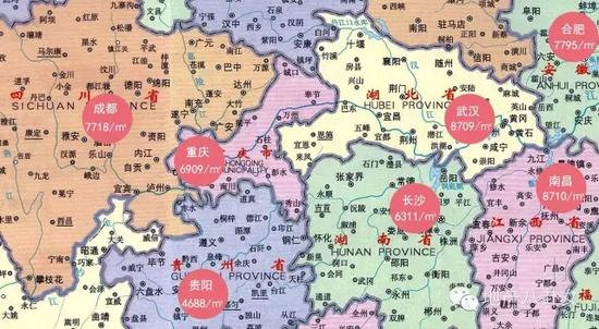 贵州到武汉地图