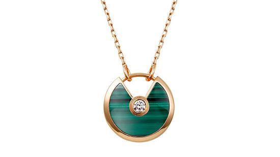 Amulette de Cartier系列孔雀石项链