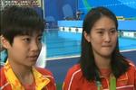 女子双人跳水摘金 刘蕙瑕哭泣自责:拖了后腿