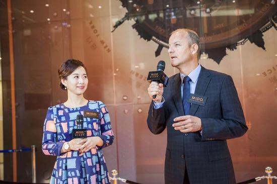 瑞士美度表全球总裁Franz Linder、中国区副总裁王珏女士亲临发布会现场