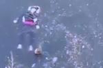 路遇母女落水 两村民跳进冰冷河施救