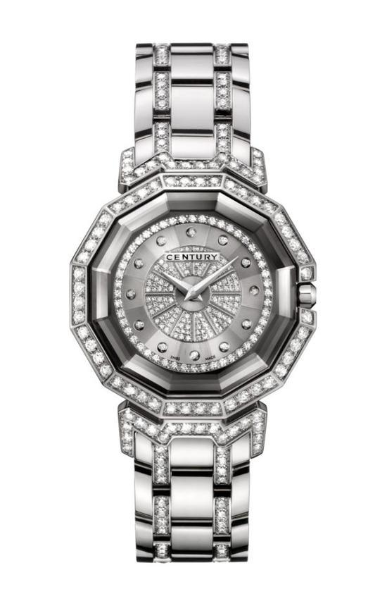 DRAGON STONE18K白金钻石男士腕表