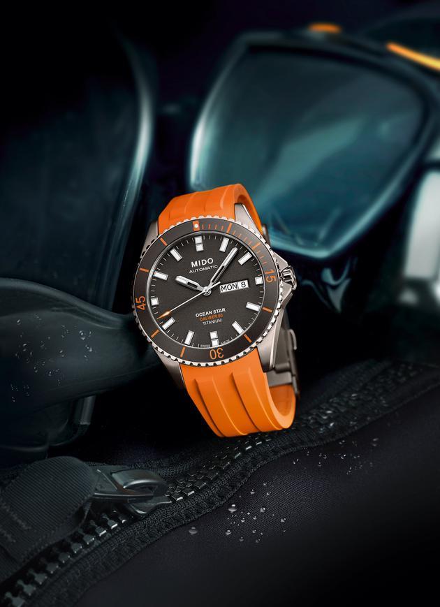 瑞士美度表OCEAN STAR领航者系列长动能钛合金防水腕表