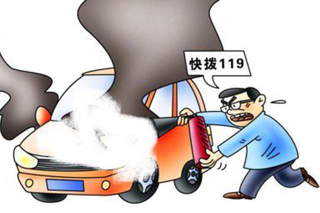 保定轿车爆燃前一秒 3人合力将司机拽出