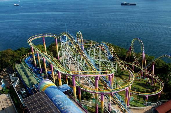 """海洋乐园,亚洲首个""""全球最佳主题公园""""奖获得者。"""